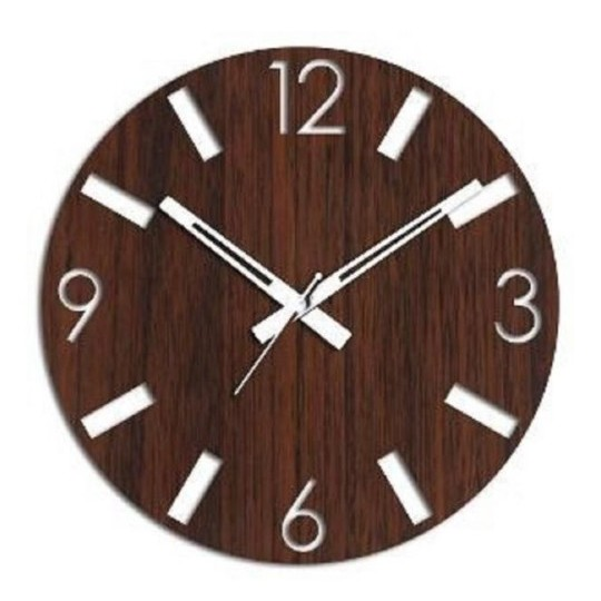 ساعة حائط خشب