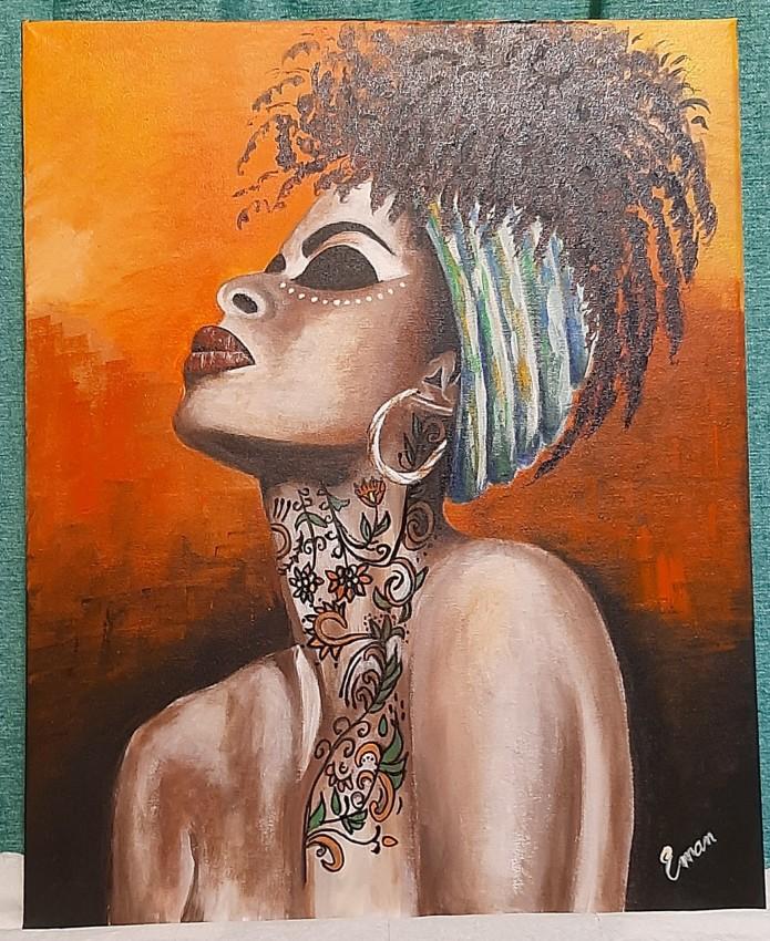 فتاه افريقيه