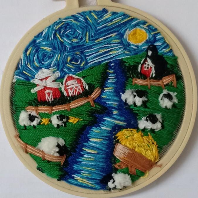 Farm (Embroidery Hoop)