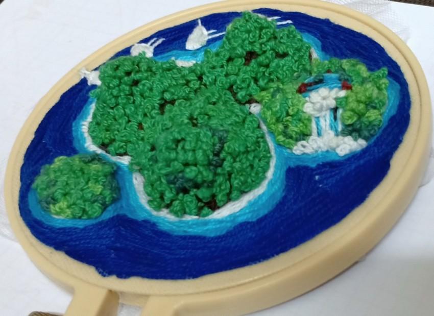 ( جزيرة (طارة تطريز يدوي