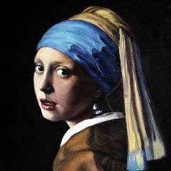 الفتاة ذات القرط اللؤلؤي يوهانس فيرمير (نسخة)