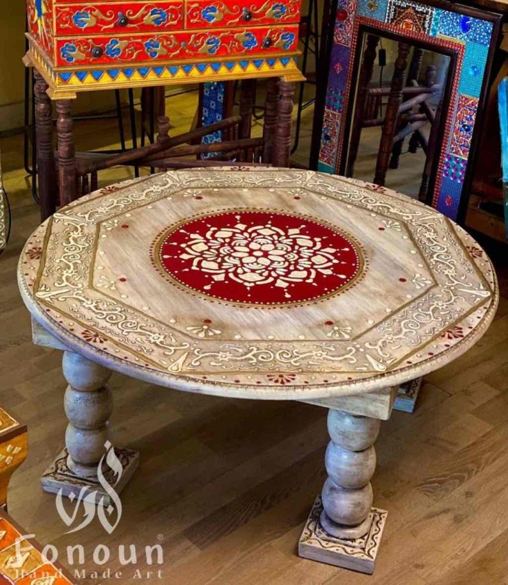 Round Hand Painted Table