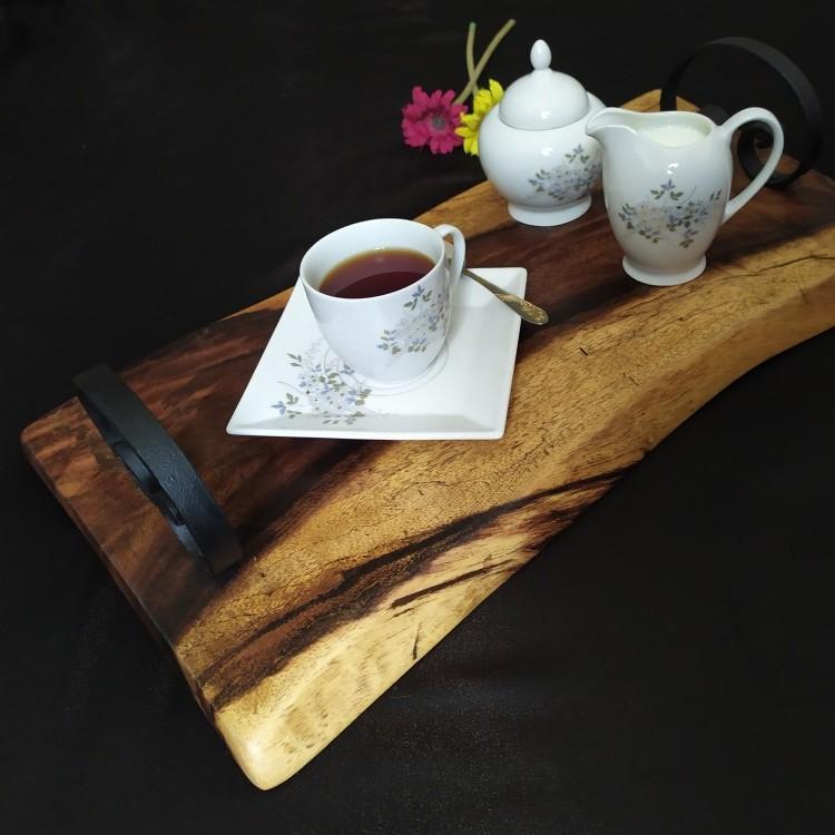 صينية تقديم من الخشب الطبيعي