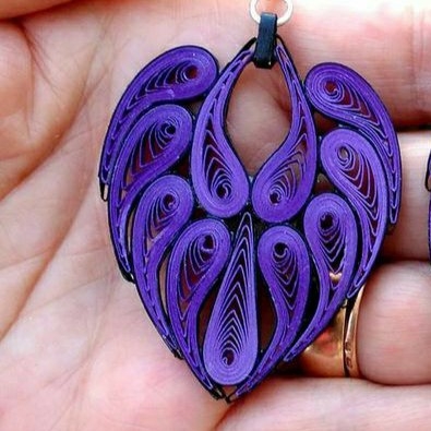 Earrings (Paper Quilling Art)
