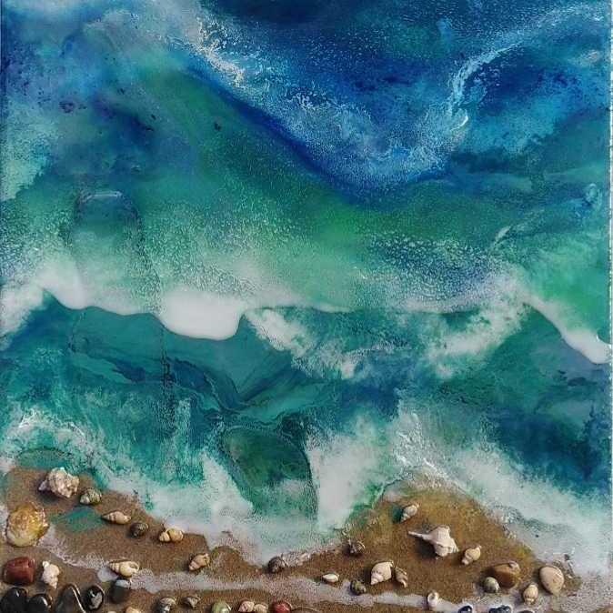 Sea Effect (Resin Art)