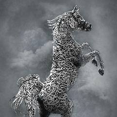 لوحة حصان عربي