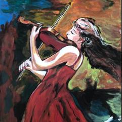 لاعبة الكمان