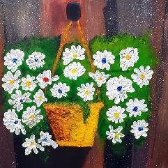 سلة من الزهور