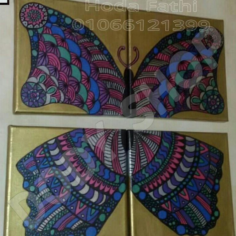 (فراشة  (مجموعة من ٤ لوحات