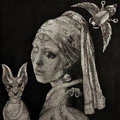 (الفتاة ذات القرط اللؤلؤي ( بالطراز الفرعوني