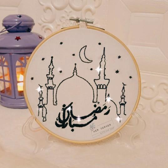 """طارة رمضان """" تطريز يدوي"""""""