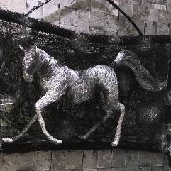 ( حصان ( نحت يدوي بالسلك