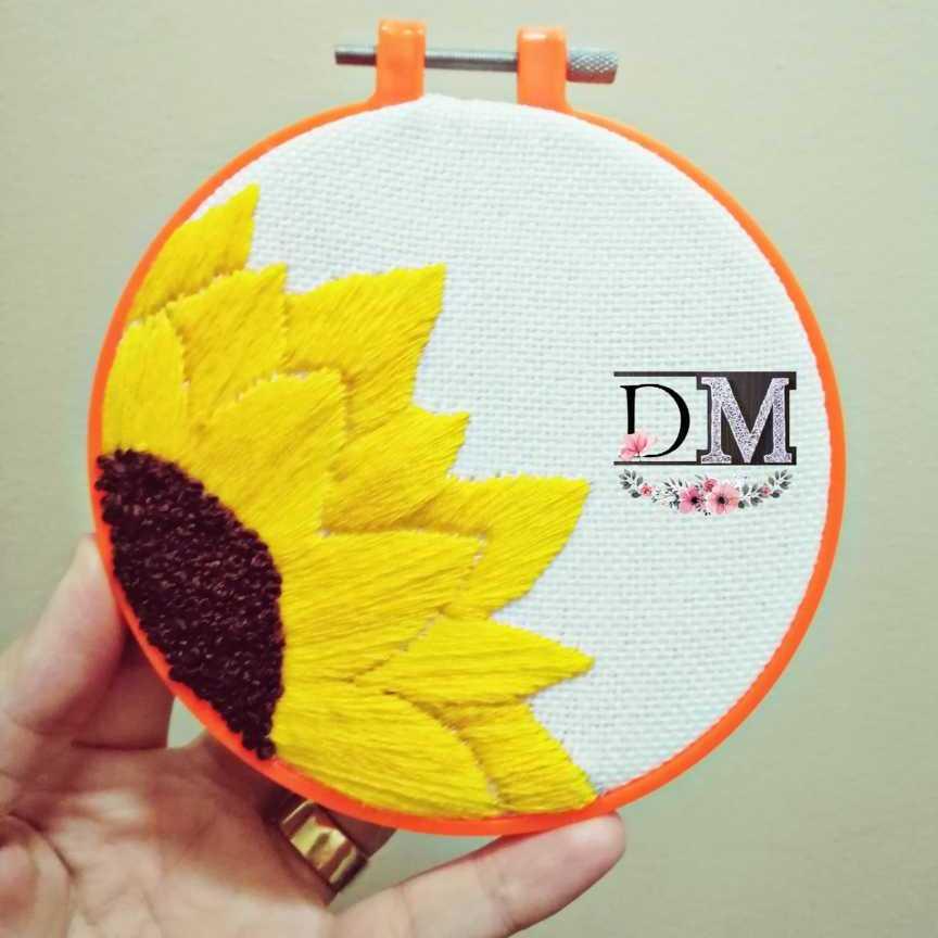 Sunflower Embroidery Hoop
