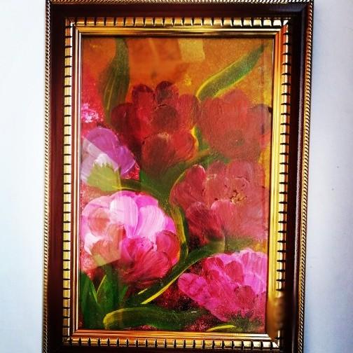 الفن التجريدي الزهور