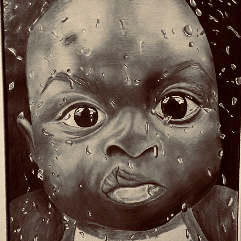الطفل الاسمر والمطر