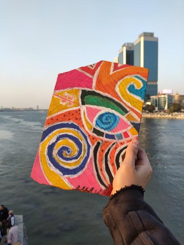 رسم علي رخام