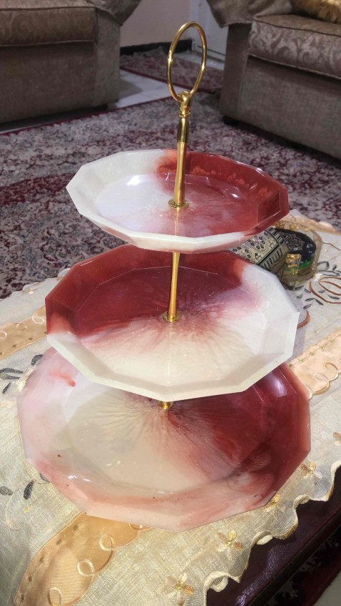 (طبق حلويات  (فن الريزن