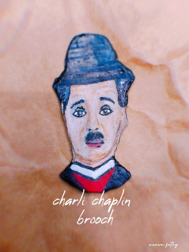 Charlie Chaplin Brooch