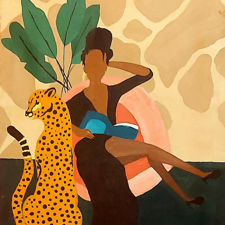 المرأة و الفهد