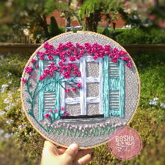Floral Window Hoop