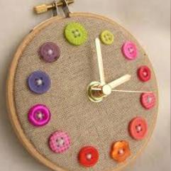(ساعة حائط  (فن الخياطة