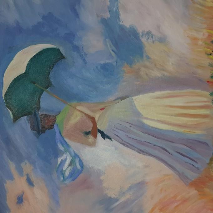 (السيده مع المظله ( استنساخ