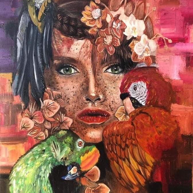 الريش والزهور والنساء ومحبي الببغاء