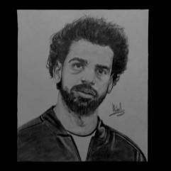 بورتريه للفنان محمد صلاح