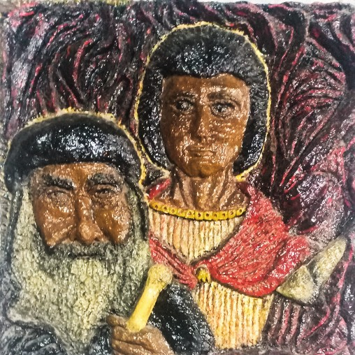 Marmina.. Father Kirollos (Sand Artwork)